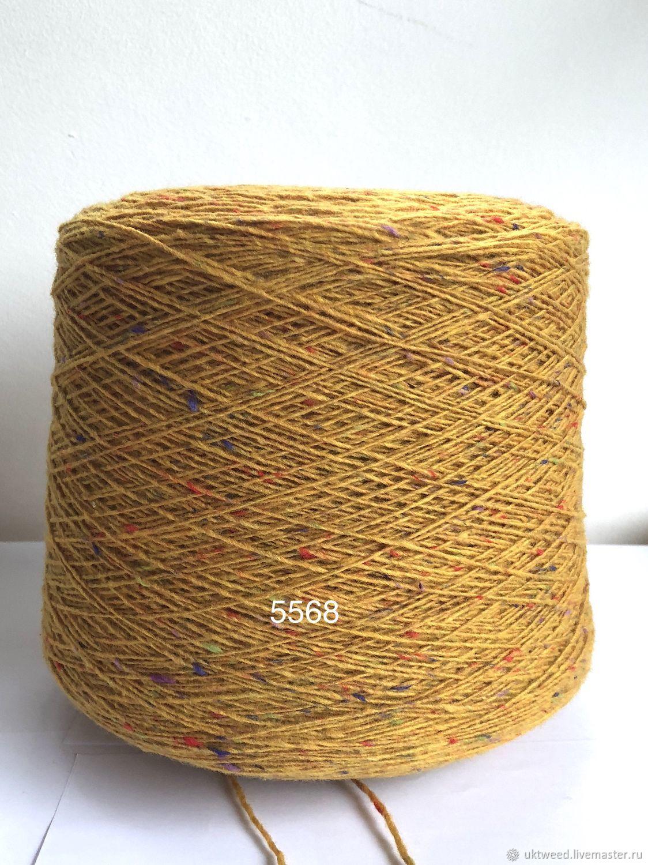Вязание ручной работы. Ярмарка Мастеров - ручная работа. Купить Soft Donegal Tweed-100 меринос. Handmade. Желтый