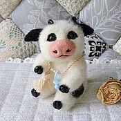 Куклы и игрушки handmade. Livemaster - original item felt toy: Bull symbol of the year 2021 felted toy made of wool.. Handmade.