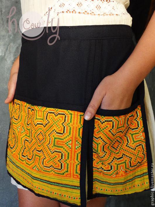 """Кухня ручной работы. Ярмарка Мастеров - ручная работа. Купить Винтажный фартук-передник """"Kitchen Hmong"""". Handmade. Фартук"""