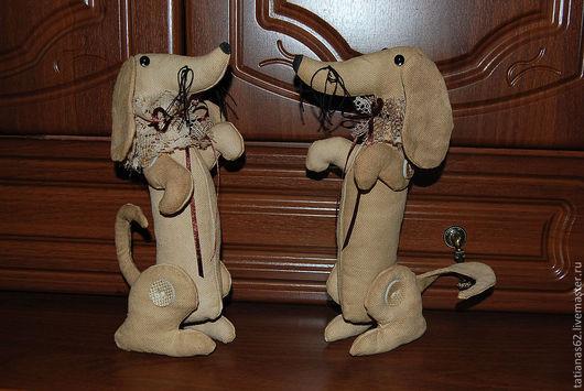 Ароматизированные куклы ручной работы. Ярмарка Мастеров - ручная работа. Купить Такса. Handmade. Бежевый, кофе, для дома, такса