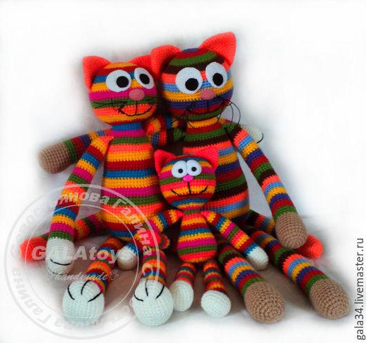 Игрушки животные, ручной работы. Ярмарка Мастеров - ручная работа. Купить Кот радужный (60 см). Handmade. Кот