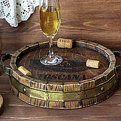 Для дома и интерьера handmade. Livemaster - original item round tray from the array