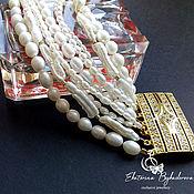 Украшения handmade. Livemaster - original item Multi-row pearl bracelet