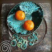 """Посуда ручной работы. Ярмарка Мастеров - ручная работа """"Драконовы острова"""", блюдо, керамика ручной работы. Handmade."""