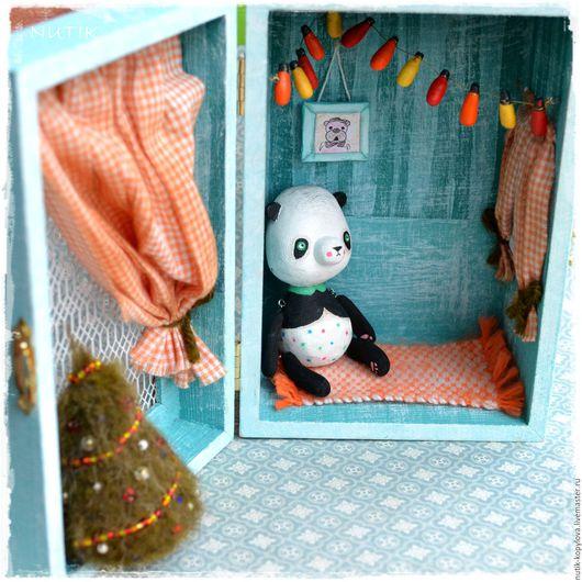 Миниатюра ручной работы. Ярмарка Мастеров - ручная работа. Купить Крошкин домик для мишки тедди. Handmade. Подарок 2016, елка
