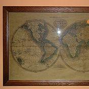 Картины и панно ручной работы. Ярмарка Мастеров - ручная работа Карта мира. Handmade.