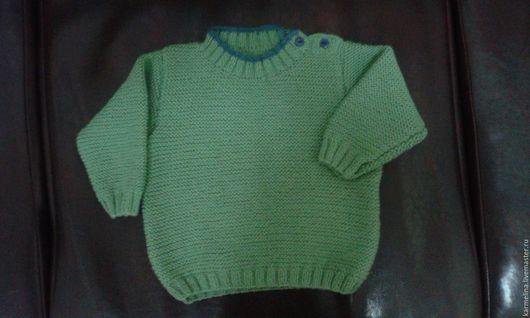 Одежда унисекс ручной работы. Ярмарка Мастеров - ручная работа. Купить Зеленый джемпер для ребенка. Handmade. Зеленый, застежка на плече