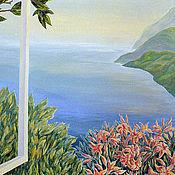 Картины и панно ручной работы. Ярмарка Мастеров - ручная работа роспись стены Окно в Лето. Handmade.
