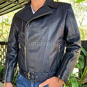 Мужская одежда handmade. Livemaster - original item Python leather jacket. Handmade.