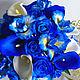 """Свадебные цветы ручной работы. Свадебный букет для невесты из полимерной глины """"Тайна ириса"""". Анна Горбунова. Ярмарка Мастеров."""