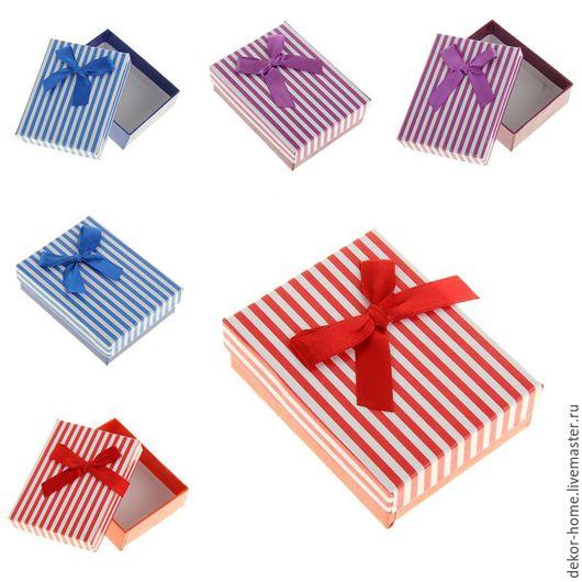 """Упаковка ручной работы. Ярмарка Мастеров - ручная работа. Купить Коробка подарочная """"Вертикаль"""" 3 цвета. Handmade. Комбинированный"""