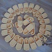 Обувь ручной работы. Ярмарка Мастеров - ручная работа Лапти для танцевального коллектива. Handmade.