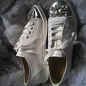 Обувь ручной работы. Ярмарка Мастеров - ручная работа Кеды Cutie белые. Handmade.