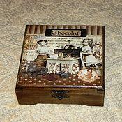 """Для дома и интерьера ручной работы. Ярмарка Мастеров - ручная работа Шкатулка """"Повелительницы шоколада"""". Handmade."""