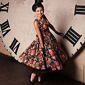 Одежда handmade. Livemaster - original item Retro dress in the style of the 50s Back to the future. Handmade.