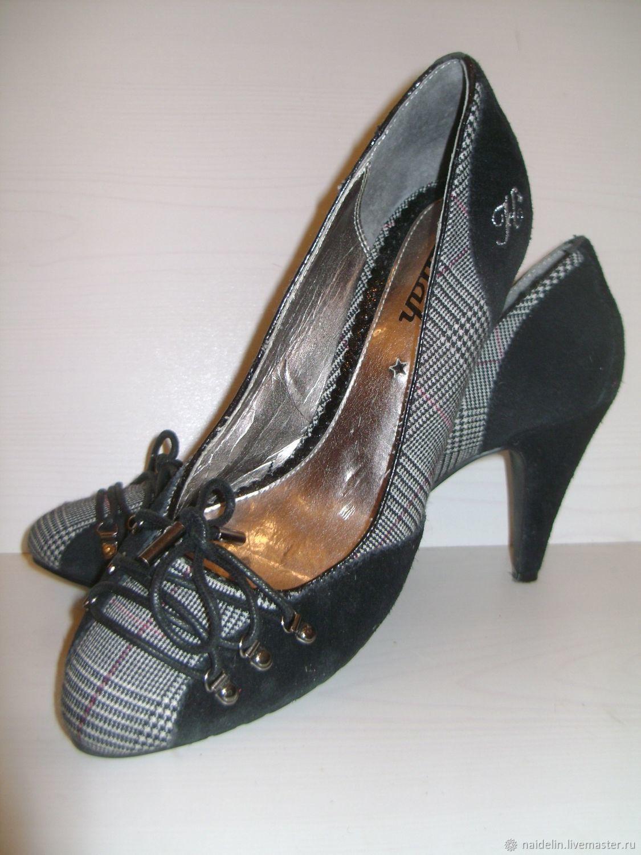 Винтажная обувь. Ярмарка Мастеров - ручная работа. Купить Винтаж  Туфли  лодочки Шотланка на ... c2fbb2beabf
