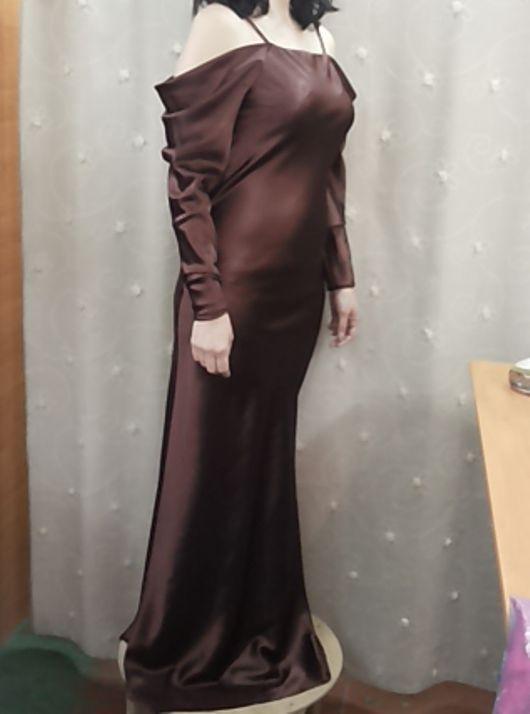 """Платья ручной работы. Ярмарка Мастеров - ручная работа. Купить Платье вечернее """"Шоколад"""". Handmade. Коричневый, нарядное платье"""