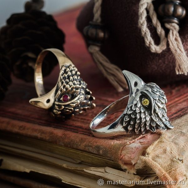 Ring Bird. Ring with bird. Ring with a bird. bronze silver, Rings, Moscow,  Фото №1