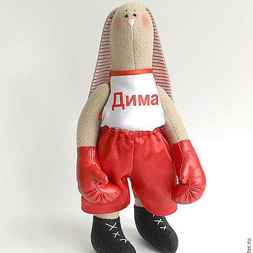 Куклы и игрушки ручной работы. Ярмарка Мастеров - ручная работа Зайка боксер. Handmade.
