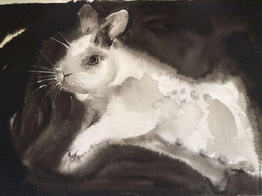 Животные ручной работы. Ярмарка Мастеров - ручная работа. Купить Кролик. Handmade. Черный, кролик, бумага