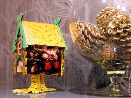 """Кухня ручной работы. Ярмарка Мастеров - ручная работа. Купить Интерьерный чайный домик """"В гостях у сказки"""". Handmade. Зеленый"""