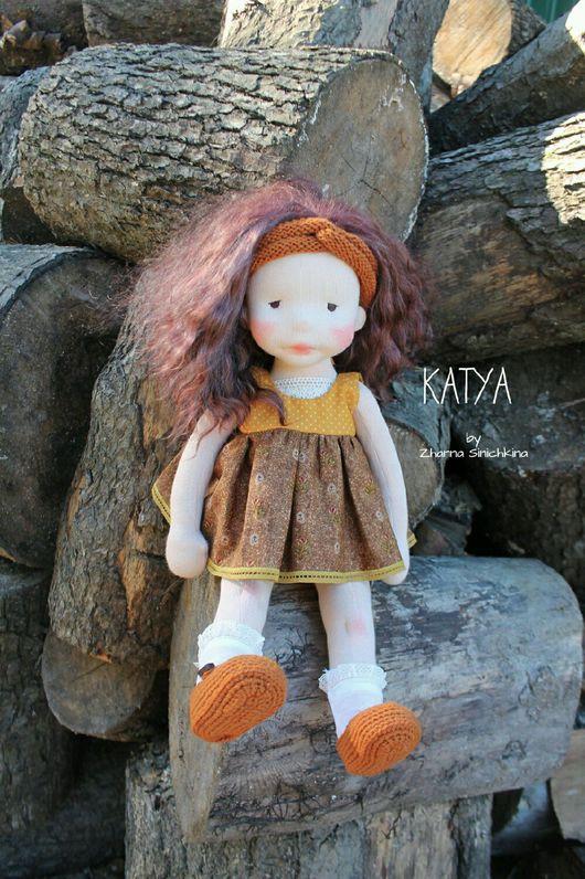 Вальдорфская игрушка ручной работы. Ярмарка Мастеров - ручная работа. Купить Кукла в вальдорфском стиле KATYA. Handmade. шерсть 100%