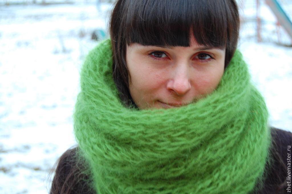 Как связать шарф снуд видео