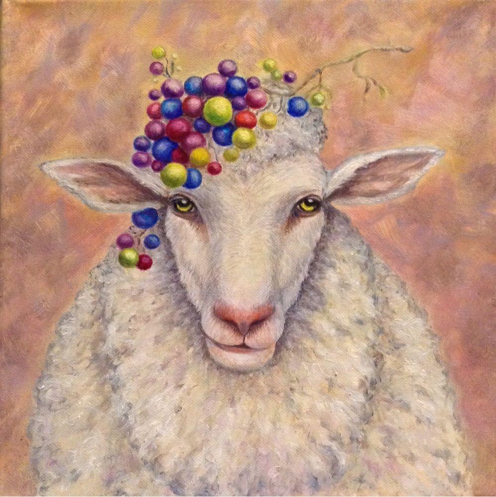 Фантазийные сюжеты ручной работы. Ярмарка Мастеров - ручная работа. Купить Картина маслом Бедная овечка. Handmade. Картина