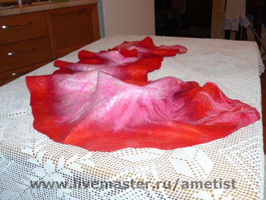 """Шали, палантины ручной работы. Ярмарка Мастеров - ручная работа. Купить Палантин """"Красная Орхидея"""". Handmade. Шерсть"""