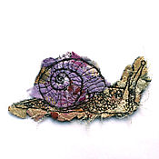 Материалы для творчества handmade. Livemaster - original item Author patch (applique) hand made Grape snail. Handmade.