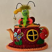 Для дома и интерьера ручной работы. Ярмарка Мастеров - ручная работа Букашка с улиткой в цветочном домике. Handmade.
