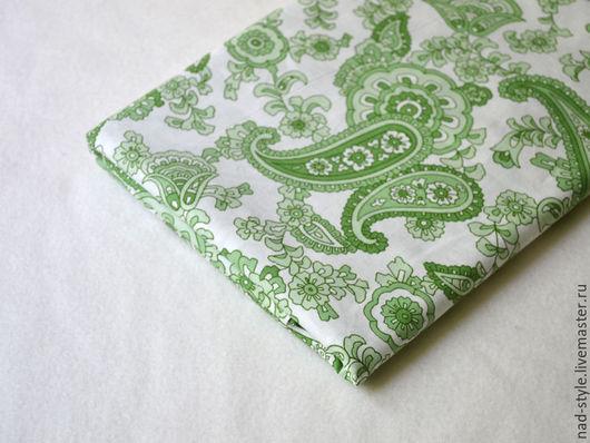 Шитье ручной работы. Ярмарка Мастеров - ручная работа. Купить Ткань хлопок индийский огурец, зеленый.. Handmade. Зеленый