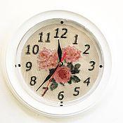 Для дома и интерьера ручной работы. Ярмарка Мастеров - ручная работа Часы Розы в стиле прованс. Handmade.