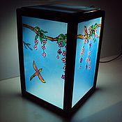 Для дома и интерьера handmade. Livemaster - original item Portable rechargeable lamp Blue Zen. Handmade.