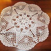 Для дома и интерьера ручной работы. Ярмарка Мастеров - ручная работа Белая салфетка. Handmade.