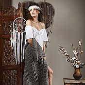 Одежда handmade. Livemaster - original item White blouse in boho style. Handmade.
