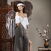 Одежда ручной работы. Ярмарка Мастеров - ручная работа Белая блуза в стиле бохо. Handmade.