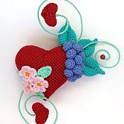 handmade. Livemaster - original item Decorative knitted heart. Gift Valentine.. Handmade.