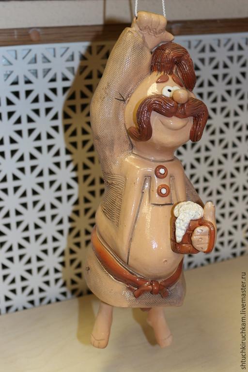 """Колокольчики ручной работы. Ярмарка Мастеров - ручная работа. Купить Керамический колокольчик """"Мужик"""". Handmade. Разноцветный, колокольчик, колокольчик керамический"""