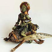 Куклы и игрушки ручной работы. Ярмарка Мастеров - ручная работа Ящерка (шарнирная фарфоровая кукла). Handmade.