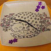 Для дома и интерьера ручной работы. Ярмарка Мастеров - ручная работа Ромашковая кошка. Handmade.