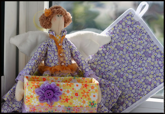 Куклы Тильды ручной работы. Ярмарка Мастеров - ручная работа. Купить Хранительница чайных пакетиков. Handmade. Комбинированный, хранительница чая
