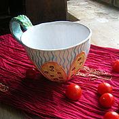 """Чашки ручной работы. Ярмарка Мастеров - ручная работа Большая чашка/кружка """"Морской цветок"""". Handmade."""