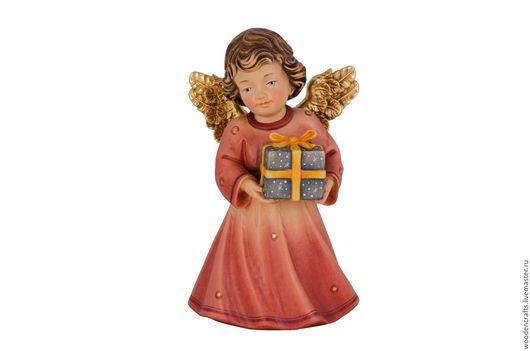 Новый год 2017 ручной работы. Ярмарка Мастеров - ручная работа. Купить Ангел с подарком. Handmade. Разноцветный, подарок девушке