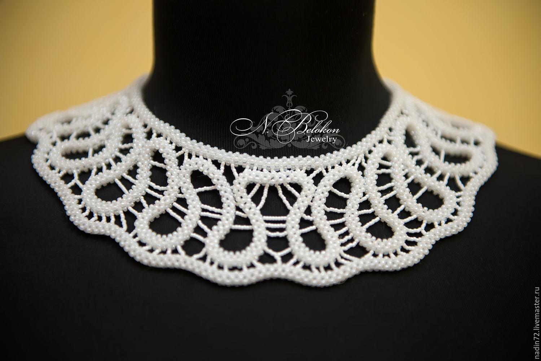 Ожерелье своими руками из кружева