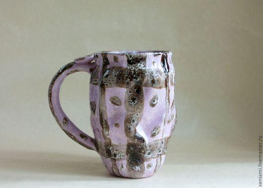 Кружки и чашки ручной работы. Ярмарка Мастеров - ручная работа. Купить Чашка лилово-коричневая. Handmade. Брусничный, необычный подарок