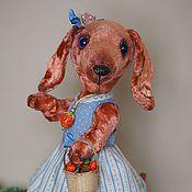 """Куклы и игрушки ручной работы. Ярмарка Мастеров - ручная работа Такса """"Клубничка"""". Handmade."""
