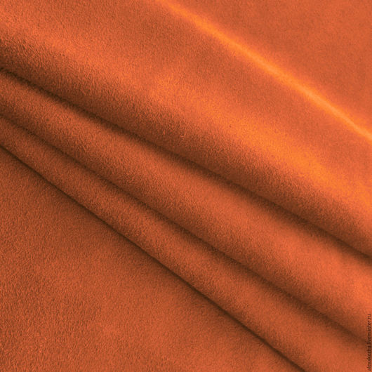 Шитье ручной работы. Ярмарка Мастеров - ручная работа. Купить Кожа натуральная спилок велюр Оранжевый. Handmade. Оранжевый, замша