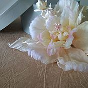 Свадебный салон handmade. Livemaster - original item Floral decor: Silk fancy hibiscus. Handmade.