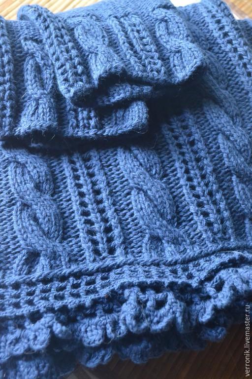 Кофты и свитера ручной работы.  Ярмарка мастеров- ручная работа.  Пуловер вязаный `Синие тюльпаны`. Пуловер вязаный `Синие тюльпаны` купить. Синий.  Handmade. Магазин мастера Доминика.